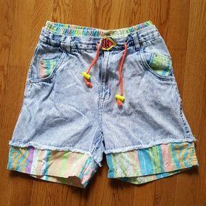 RARE Vintage 80's High Waist Bugle Boy Jean Shorts